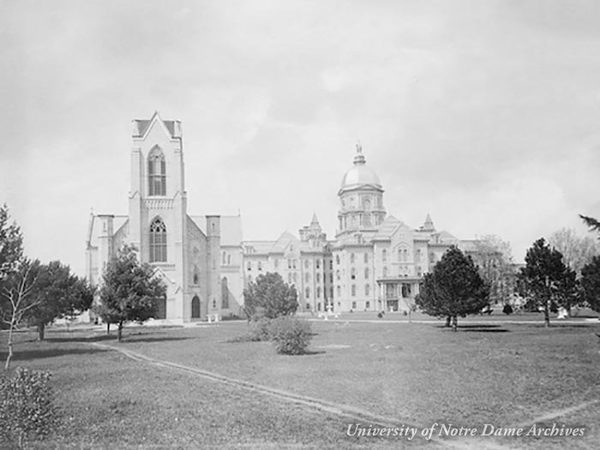 Main Building and the Basilica of the Sacred Heart without a steeple, 1888.
